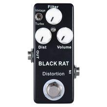 Mosky Black RAT Distortion Mini Guitar Effect Pedal