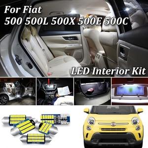 100% White No error Car LED Bulb interior dome light Kit For Fiat 500 500L 500X 500E 500C LED interior Lamp light Kit 2007-2018