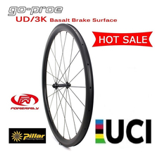 Hot Sale Spot Goods 700C UD/3K Facade Basalt Brake Surface Carbon Wheel 38/50/60/88mm Clincher For 700c Road Bike Racing Bicycle bicycle bearbike barcelona 700c 1 ic height 580mm 2018 2019