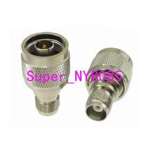 1pce N male plug to TNC female jack RF coaxial adapter connector high quality low attenuation tnc female jack connector switch bnc male plug connector rg142 50cm 20 adapter