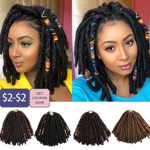 Bella Crochet Hair Dreadlocks Faux Locs Braiding Hair Extensions Synthetic Dreadlock Jumbo 12 Inch 12 Strands Black Crochet Hair(China)