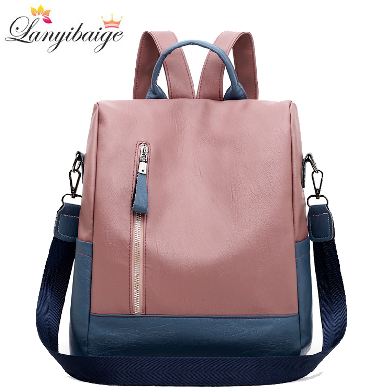 2020 New Women Backpack High Quality Leather Backpack Anti-theft Travel Backpack Multifunction Shoulder Bags School Bags Mochila