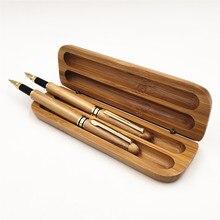Wholesale Bamboo Pen Set, Bamboo Fountain Pen Signature Pen Bamboo Case Stationery Gift Set