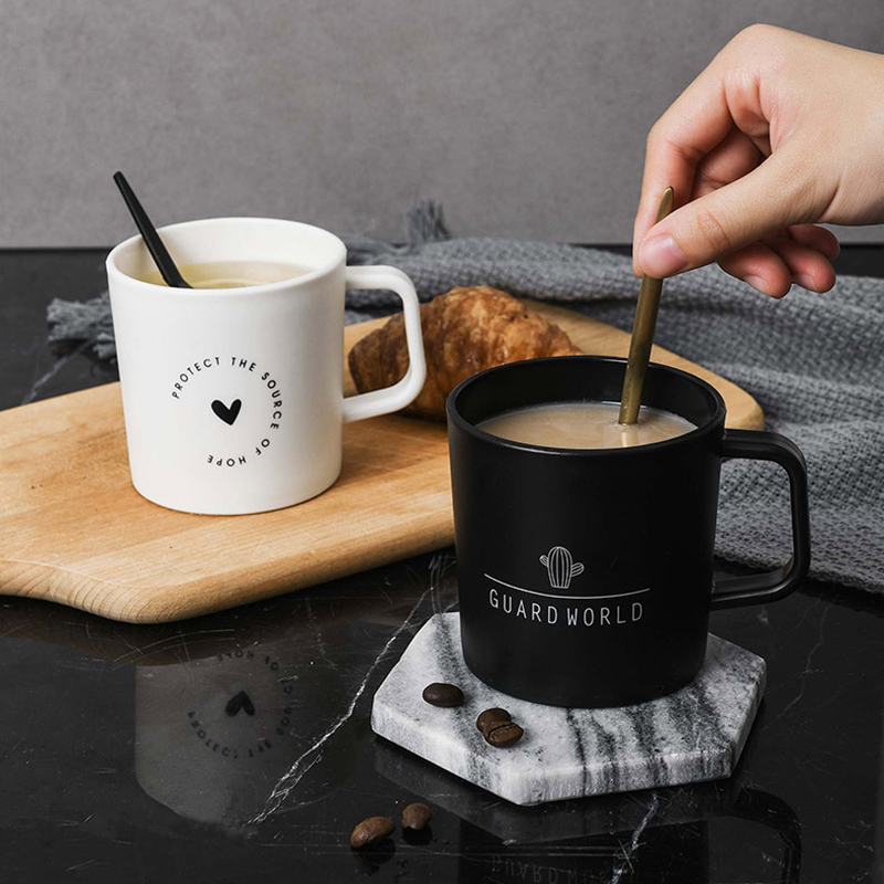 Coffee Mugs Love Nature Quote Heart Cuctus Tea Milk Coffee Cups With Handgrip Lid Mugs Aliexpress