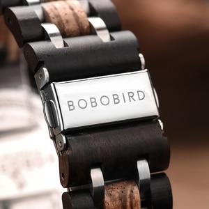 Image 5 - Bobo Vogel Horloge Mannen Montre Hout Horloge Mannen Chronograph Militaire Horloges Luxe Stijlvolle Dropshipping Met Houten Doos Reloj Hombre