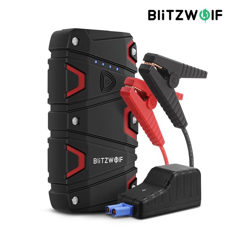 BlitzWolf BW JS1 портативный автомобильный стартер 12000 мАч 800A аварийный усилитель аккумулятора внешний аккумулятор водонепроницаемый светодиодн