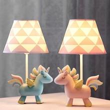 Unicorn Led Table Lamps Children Room Bedroom Baby Animal Horse Desk Lamp Modern Stand Light Fixtures Kids Birthday Gift