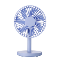 Top Deals Protable Desktop Fan USB Mini Electric Fan Table Fan 3 Speed Wind Adjustable(blue)|Fans| |  -