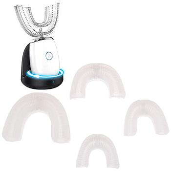 Głowica elektrycznej szczoteczki do zębów Sonic Clean wymienne końcówki do szczoteczki szczotka silikonowa głowice do zębów 360 stopni U typ automatyczny tanie i dobre opinie YOVIP CN (pochodzenie) U-shaped silicone brush head