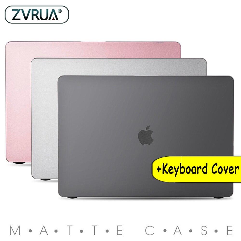 Fosco Cristal Transparente Clear Case Para Mac book Air Pro Retina 11 12 13 15 16 Barra de Toque 2020 A2251 a1932 13 A2289 Novo Ar 2019