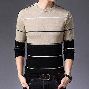 Image 3 - AIRGRACIAS 2019 新セーターの男性のファッションブランドプルオーバーストライプスリムフィット Knitred ウール秋カジュアル男性服プル hombre