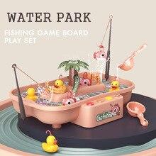 Fishing-Toy Platform Water-Play Magnetic Kids Electric Children's Music Ul Gift Circulation
