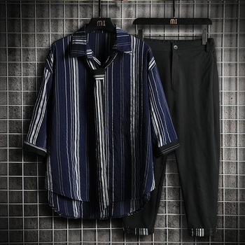 The new ice cream two-piece leisure suit with seven-minute sleeves and nine-minute trousers for men plus fat and extra size dt 05b stroboscope lamp with battery for printing machine 50 times minute 20000 times minute