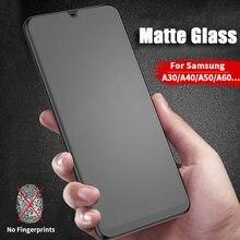 Матовое стекло без отпечатков пальцев для samsung galaxy A10 A20 A30 A40 A50, защитная пленка для экрана, матовое закаленное Сенсорное стекло A 10 20 30 40 50