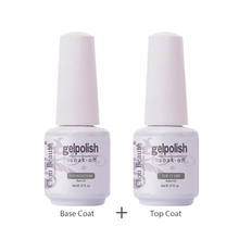 Clou Beaute 8ml Top Base Coat Gel Polish Top Coat Shiny Sealer Primer Soak off UV Gel Nail Art Transparent Gel Lak Varnish
