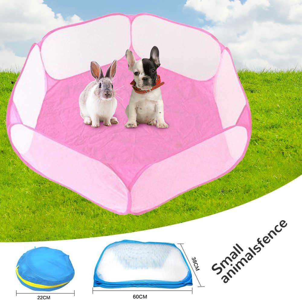 작은 동물 햄스터 Hedgehog 치에 대한 통기성 접는 울타리 강아지 고양이 토끼 기니 돼지 휴대용 애완 동물 고양이 개 케이지 텐트 Playpen