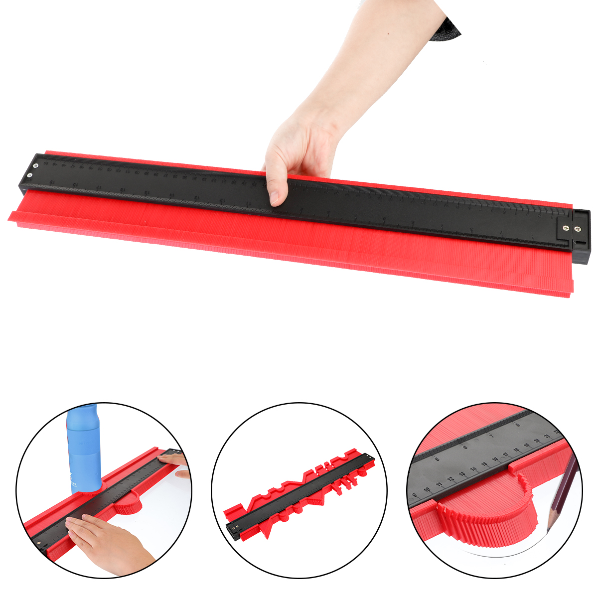 Profile Measuring Tools Deep Duplicator Tiling Laminate Woodworking Multi-functional Irregular Plastic Gauge Contour Gauge Ruled