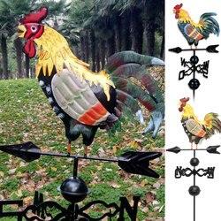 Grimpa Metal com Galo Galo Ornamento Catavento Jardim Decoração Do Pátio pode CSV