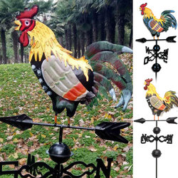 Palhetas do tempo do metal com galo ornamento galo weathervanes jardim pátio decoração pode csv