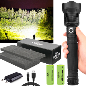 250000cd 1000m XHP90.2 most powerful led flashlight usb Zoom Tactical torch xhp50 18650 or 26650 Rechargeable battery hand light(China)