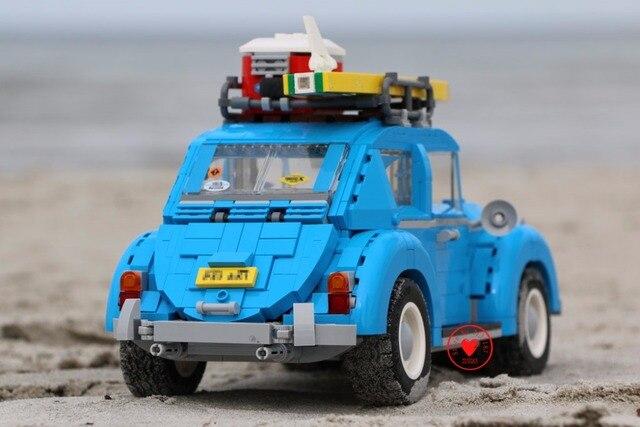 Nouveau classique vitesse course bleu voiture ville Fit technique voiture ville modèle 10252 blocs de construction briques jouet cadeau enfant anniversaire