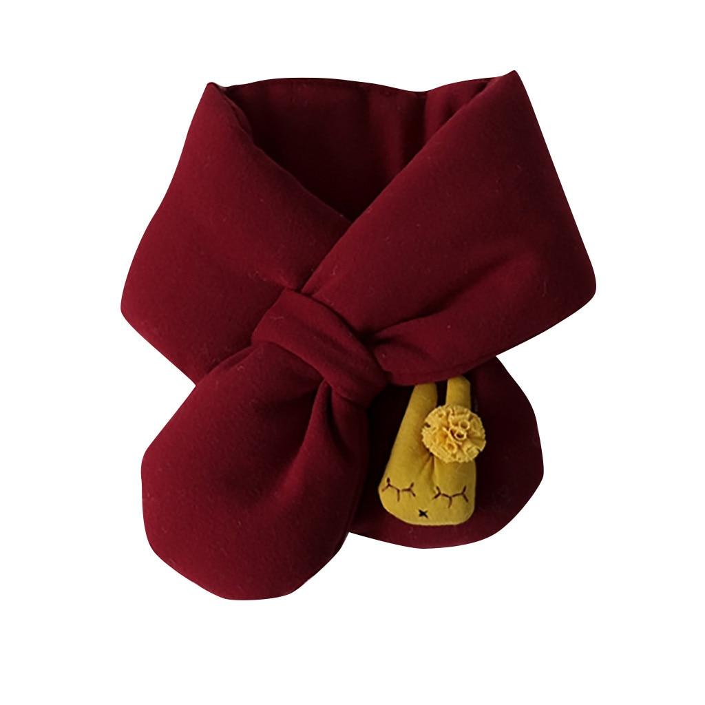 Шарф, коллекция года, весна-зима, новинка, для мальчиков и девочек, милые теплые шали, шарфы, воротник, уплотненный зимний шарф, милые детские шарфы,# D19 - Цвет: Wine