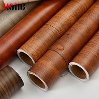 PVC Self adhesive Wallpaper Wood Grain Contact Paper for Kitchen Cabinets Sticker Waterproof Wall Paper Decorative
