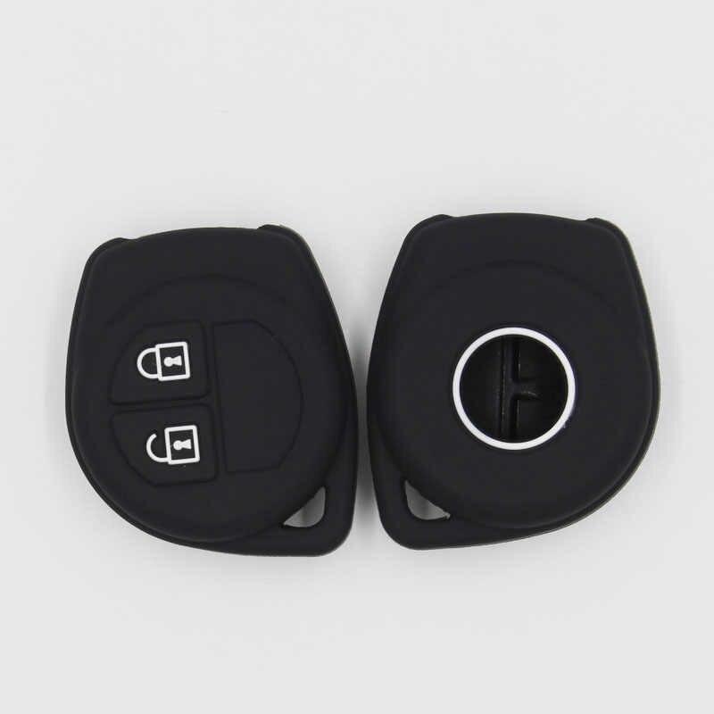 KAPU 1 adet toptan 2 düğmeler uzaktan silikon anahtar kılıfı araba Suzuki Amagatarai SX4 Swift Liana Alto Igins Esteem Baleno GR