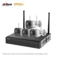Dahua Imou 4CH 2MP NVR Kits Wireless Security System Cameras H.265 4PCS Outdoor Waterproof WiFi IP Camera Video Surveillance Set