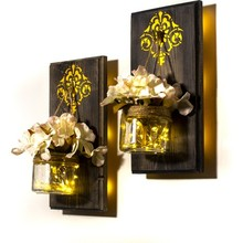 Decorative-Night-Light Wall-Decoration Wood Applique-Frame Battery-Operated Led Fairy