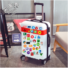 108Pcs Programmer Software Stickers Personality Laptop Luggage Car Stickers Skateboard Suitcase Stickers Waterproof Stickers