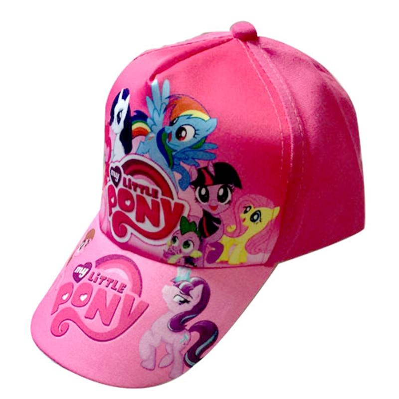 My Little Pony Cute Cartoon Anime Figure Children Hat Girl Sun Hat Cap Baseball Caps 3 To 12 Years Old Kid Birthday Toys Gift