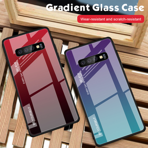 Image 3 - S10 מקרה מזג זכוכית עבור Samsung Galaxy S10 בתוספת S 10 e S20 אולטרה שיפוע זכוכית כיסוי אחורי מעטפת מגן S 10 S10E מקרה