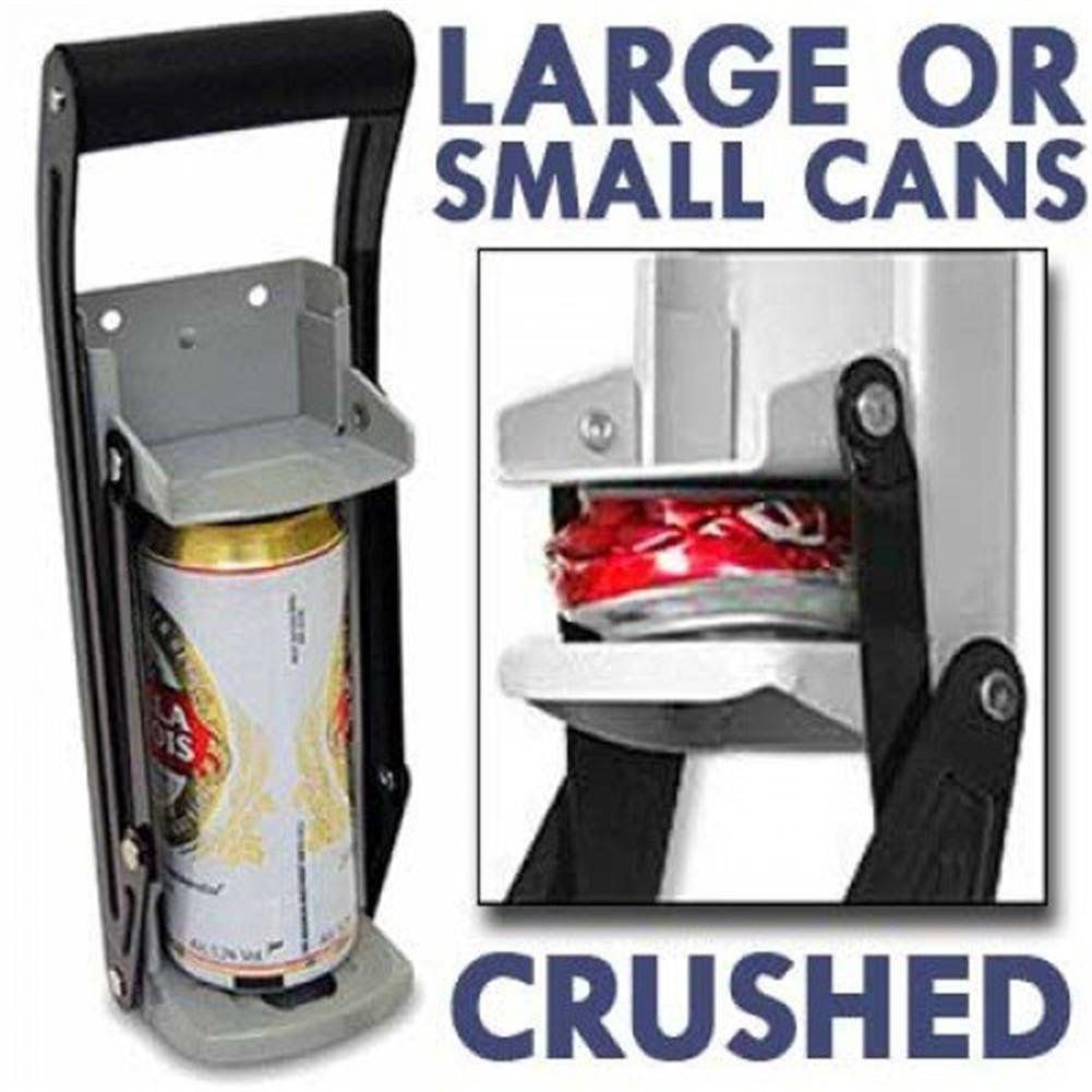 16 Oz Aluminum Can Crusher & Bottle Opener Heavy Duty Metal Wall Mounted Soda Beer Smasher Eco-Friendly Recycling Tool