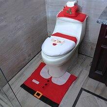 Carpet Rug-Cover Shower-Mat Bathtub Foot-Pad Toilet Small Christmas Santa-Claus