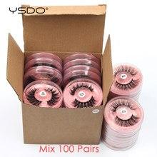 YSDO Mink Lashes Wholesale 20/30/40/50/100 Pcs 3D Mink Eyelashes Thick Fake Lashes Makeup Natural False Eyelashes In Bulk Cilios