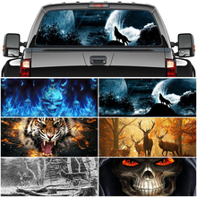 For Pickup Car Surprise 3D Rear Windshield Sticker 135x36/146x46cm One Way Vision Material OEM Unique ORC Thriller Sticker Scary