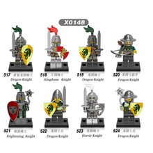 X0148 Building ModelBlock Super Heroes Medieval Rome Heroic Dragon Soldier Kingdoms Knight Figures Toys For Children Gift DIY