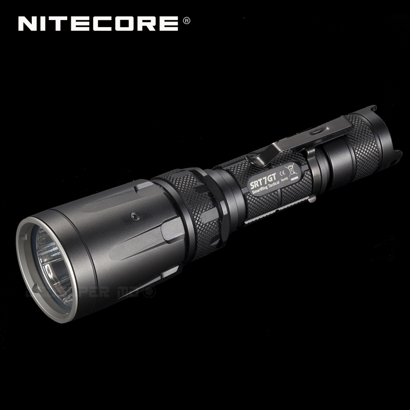 Changeable Light NITECORE SRT7GT CREE XP-L HI V3 LED High Output Tactical Flashlight With Multi-colored LEDs