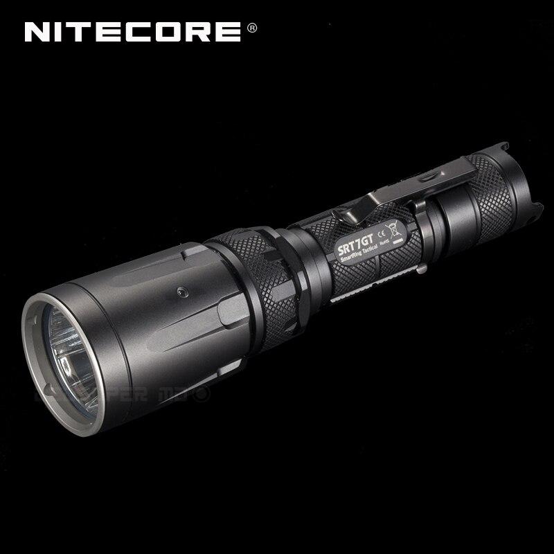 Changeable Light NITECORE SRT7GT CREE XP-L HI V3 LED High Output Tactical Flashlight With Multi-colored LEDs