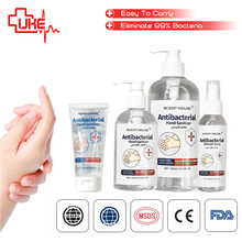 Desinfetante antibacteriano 75% gel para lavagem, desinfetante líquido para álcool com ce & fda