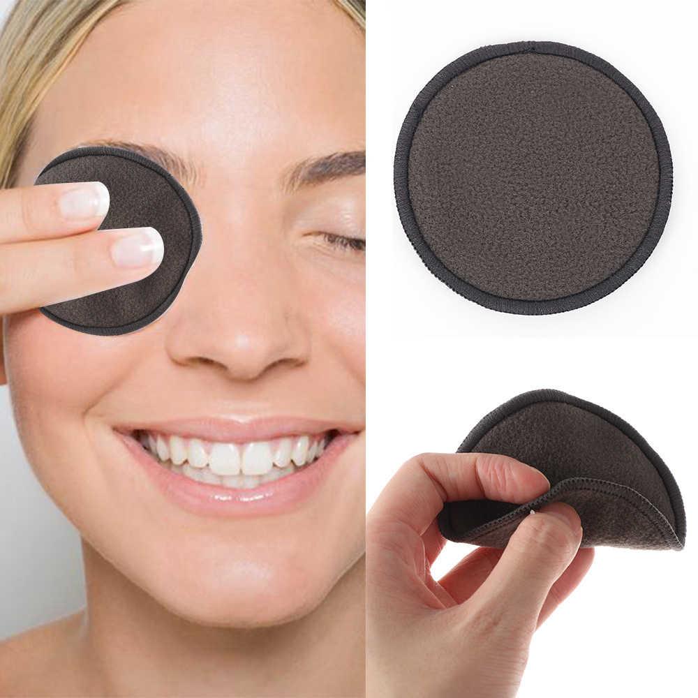 1 adet makyaj temizleme pamuk ped kullanımlık bambu elyaf yıkanabilir mermi temizlik pedleri yüz göz güzellik makyaj aracı