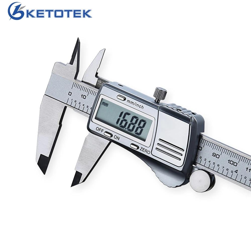 Vernier Caliper 150 mm Digital Electronic Gauge Stainless Steel Micrometer