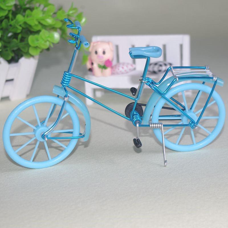 Mini Bicicleta Bicicleta Simulação Brinquedos Modelo para Decoração de Casa de Boneca Móveis Brinquedos Modelo de Moto Pequena