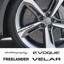 4 pçs aro da roda do carro adesivos para land rover autogiografia descoberta evoque freelander supercharged svr vela acessórios de automóveis