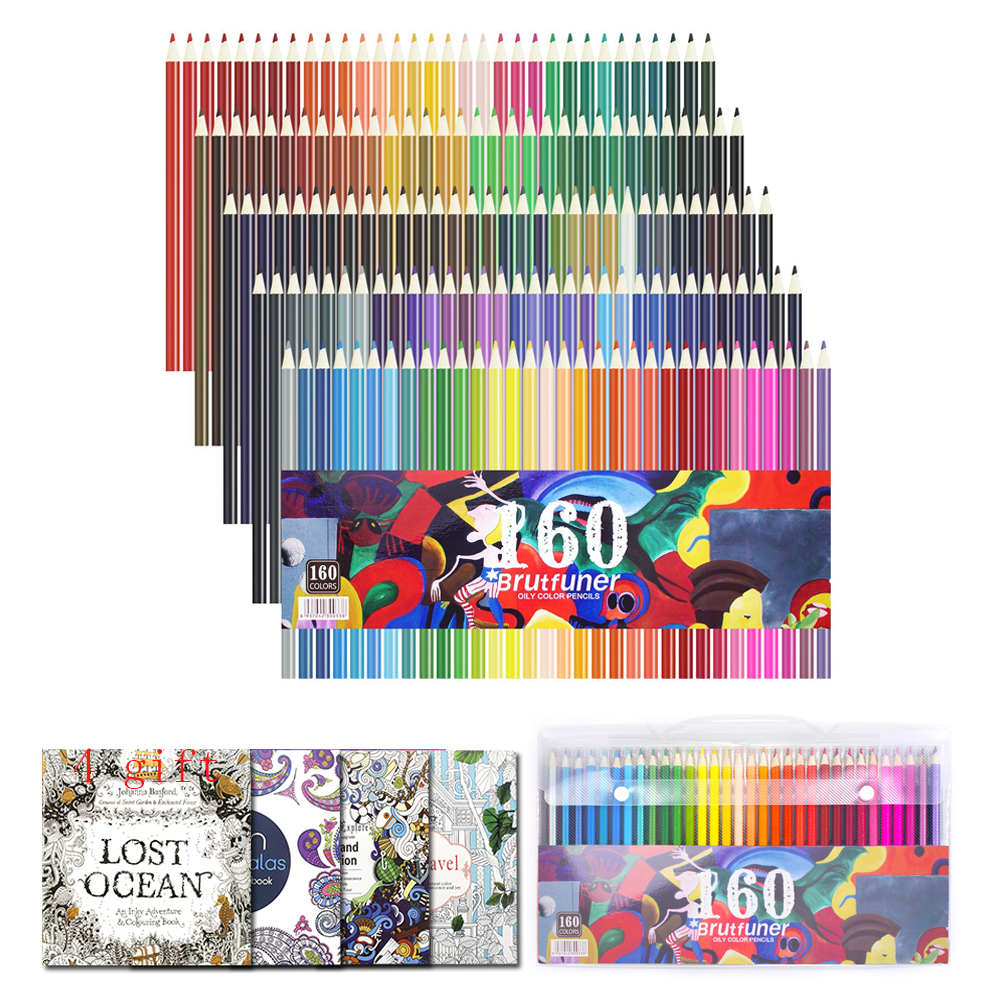 160 Colors Professional Colored PencilsFor Sketch Drawing Artist Wood Pencil Water Color Pencil Set For School Art Supplies