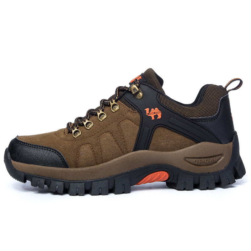 Suede Leather Outdoor Hiking Shoes Men Women Waterproof Shockproof Breathable Sports Climbing Shoes Travel Trail Trekking Shoes