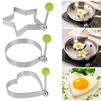 Stainless Steel 4Style Fried Egg Pancake Shaper Omelette Mold Mould Frying Egg Cooking Tools Kitchen Accessories Gadget Rings image