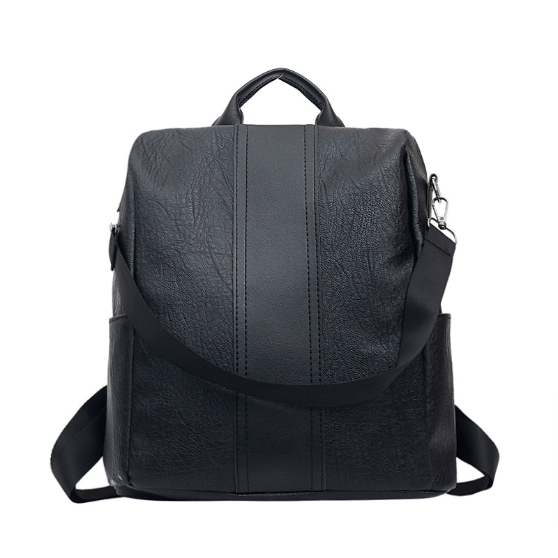 Women Backpacks Anti-theft PU Leather Backpack Female Double Shoulder Bag Travel Lightweight Casual Backpack School Bags