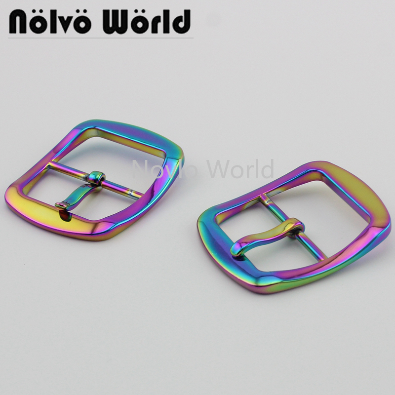 2 Pieces Test, 38.5*39.4mm, High Quality  Rainbow Buckle Webbing Belt Ribbon Buckle Clasp Leather Craft Diy Hardware Accessories